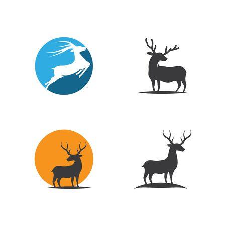 Deer ilustration vector template Illustration