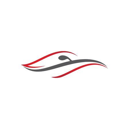 Auto car Template vector icon Illustration