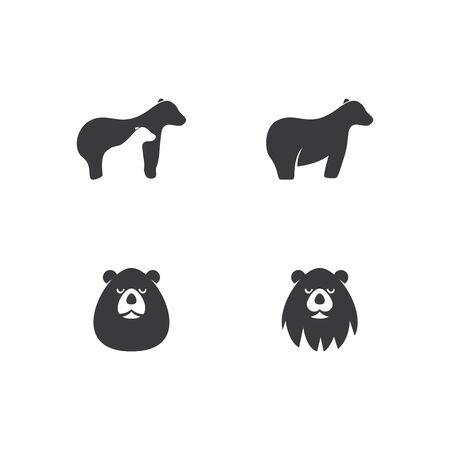 Bear  illustration vector template