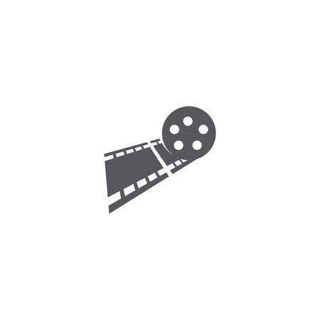 filmstrip illustration icon flat design Çizim