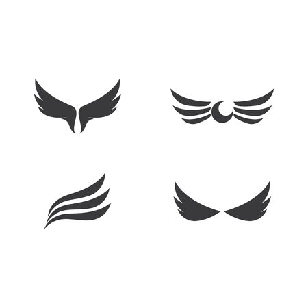 Wing set  symbol vector illustration