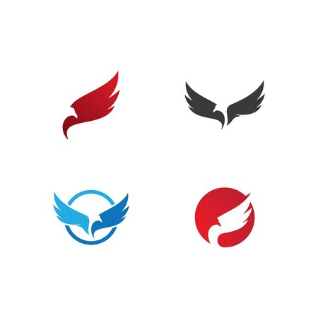 Set of Falcon Eagle Bird  Template vector icon