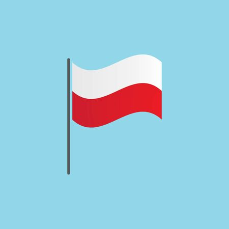 Poland national flag vector ilustration Banque d'images - 139446243