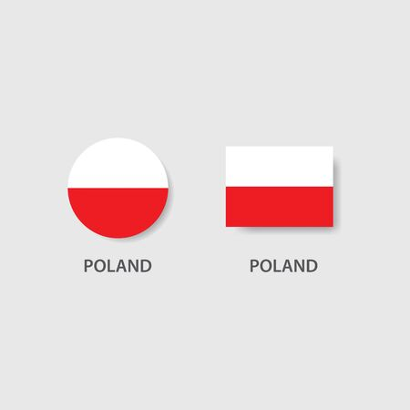 Poland national flag vector ilustration Banque d'images - 139446394