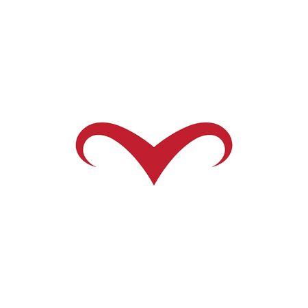 Bull horn  Logo Template vector icon illustration 向量圖像