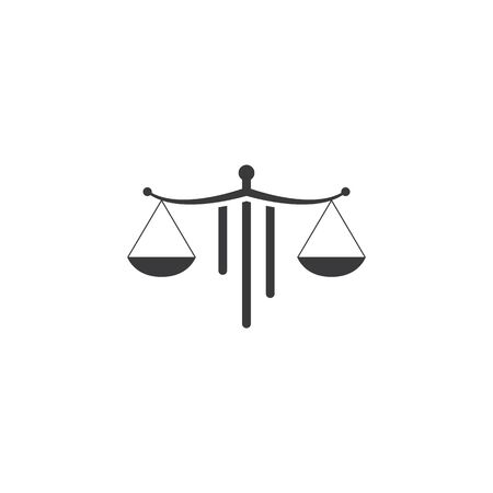 Scale Law firm logo ilustration vector template