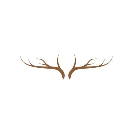 Deer antler ilustration logo vector template Illustration