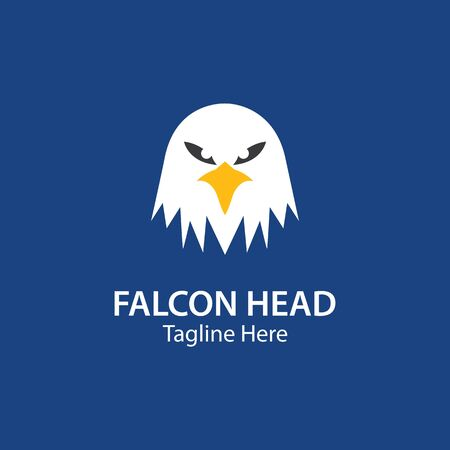 Falcon head  Eagle Bird Logo Template vector