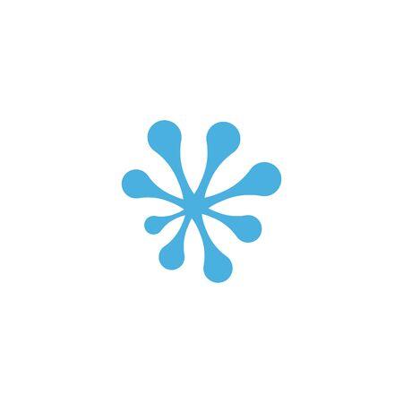 Water Splash logo vector ilustration Çizim