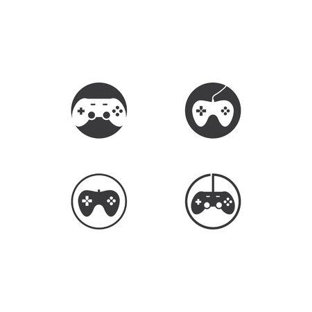 Joystick logo illustration vector template