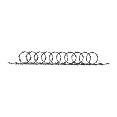 Barbed wire illustration vector flat design
