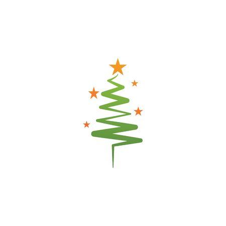 Christmas tree logo ilustration vector design