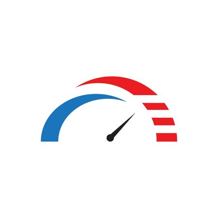 speed meter logo icon template design
