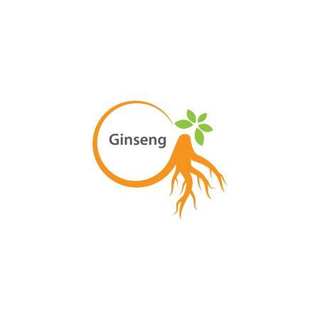 Ginseng logo illustration vector template