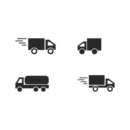 delivery truck icon template design Foto de archivo - 143586256