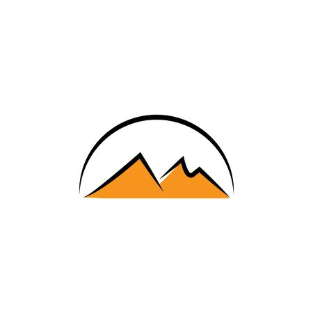 Mountains Logo vectorTemplate illustration 向量圖像