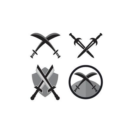 Sword logo vector illustration  template