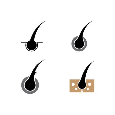 Hair treatment logo vector icon template