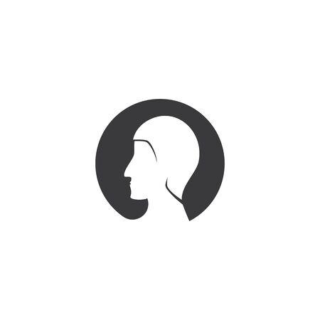 Man Face ilustration logo vector template