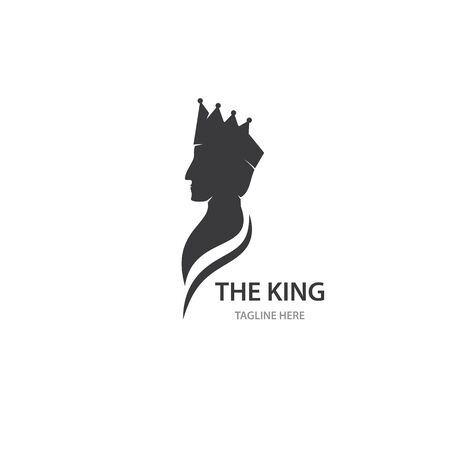 King character logo vector template