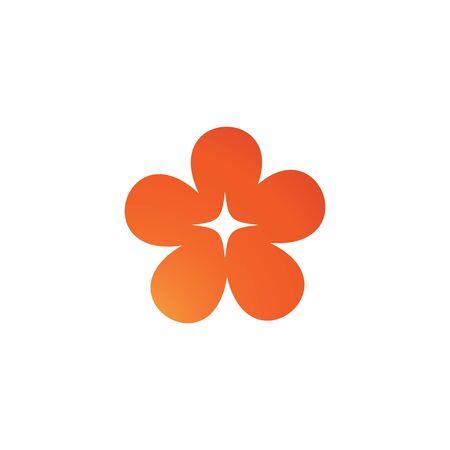 flower logo template vector Ilustracja