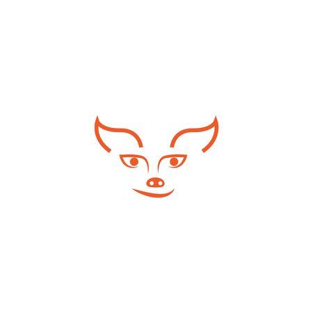 Fox logo illustration vector template 일러스트