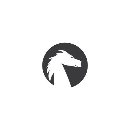Dragon logo template vector illustration 일러스트
