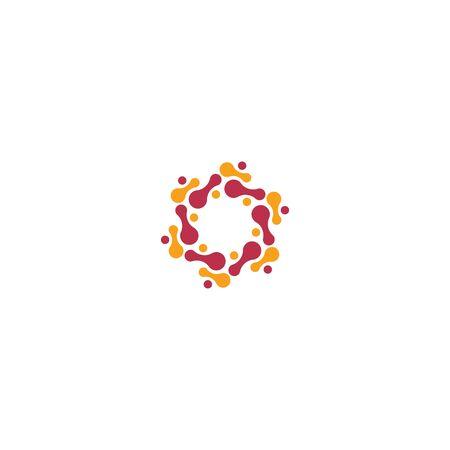 Bacterial Probiotic icon vector flat design 일러스트