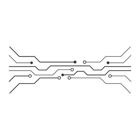 Circuit technology illustration vector template