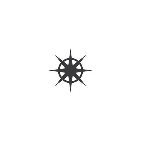 Compass Logo vector flat design