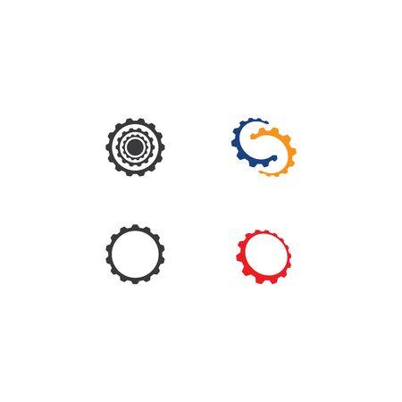 Gear Logo Template vector icon illustration design 일러스트