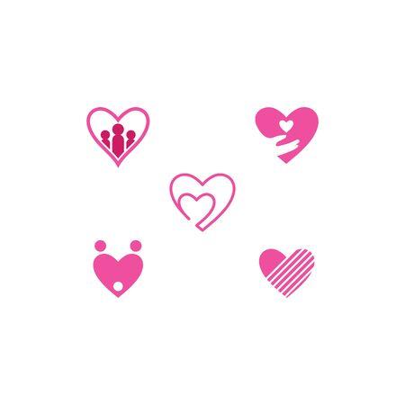 Love Logo Vector icon illustration design Template