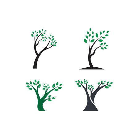 Tree logo template vector illustration
