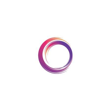 Circle magic swirl logo vector illustration 矢量图像