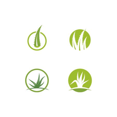 Aloe vera logo vector illustration template  イラスト・ベクター素材