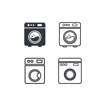 washing machine logo illustration template design