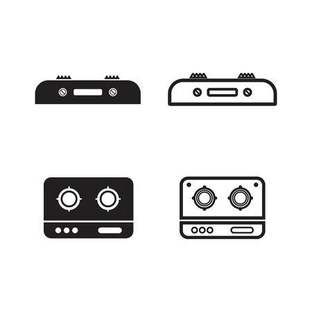 stove logo vector template design 向量圖像