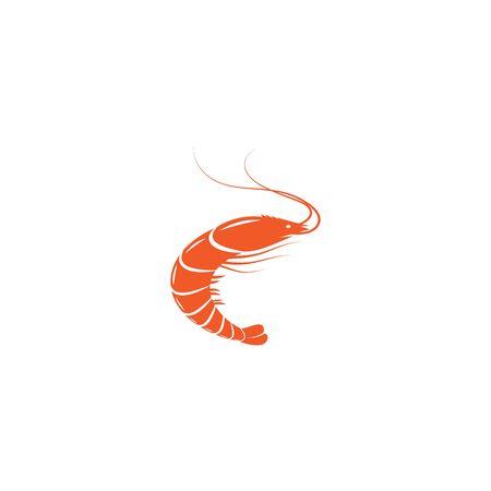 Shrimp illustration logo vector design