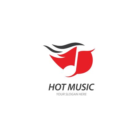 Hot Music illustration template