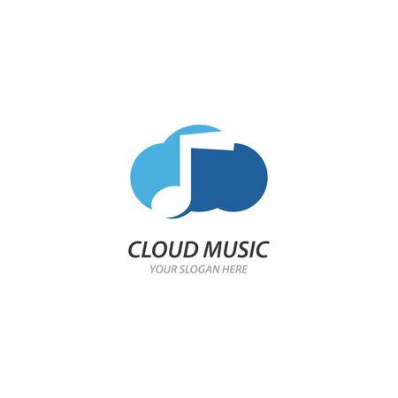 Cloud Music  illustration template