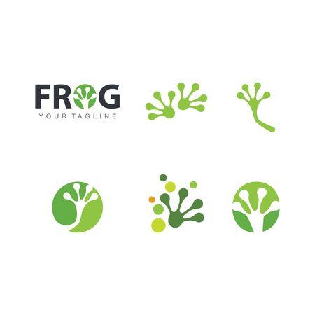 Frog foot Template illustration design