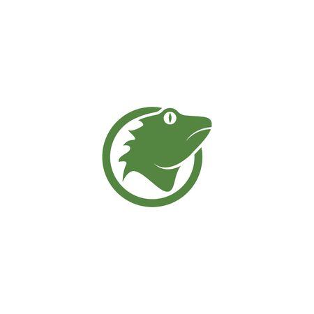 Iguana illustration design  イラスト・ベクター素材