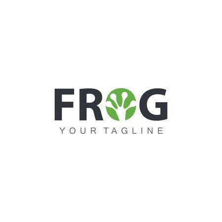 Frog Template illustration design