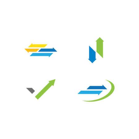 Arrow logo  design vector template Illusztráció
