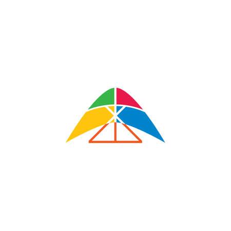 Hang gliding logo icon vector illustration design 向量圖像