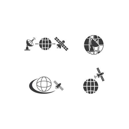 Satellite icon illustration vector flat design