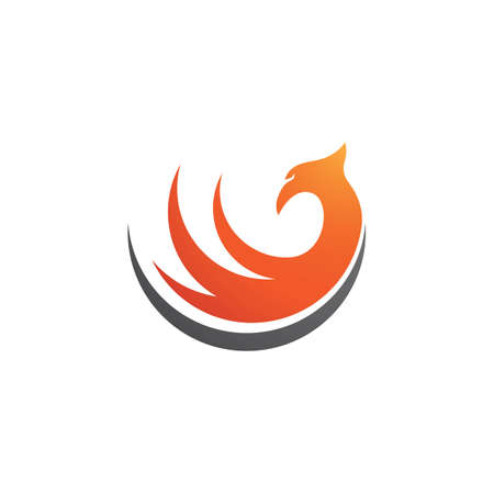 Phoenix fire Bird Logo Template vector
