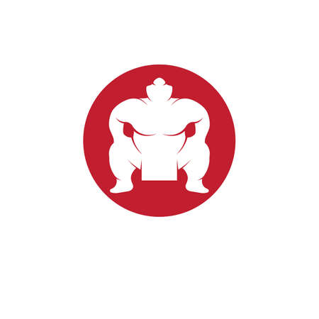 Sumo fighter character illustration vector design
