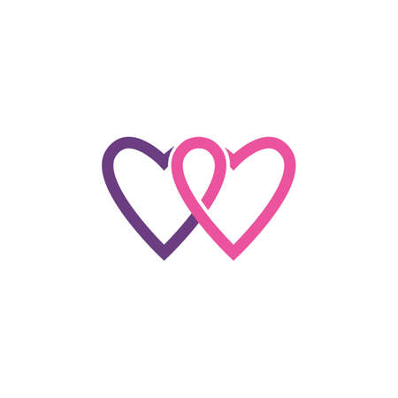 Love Logo Vector icon illustration design Template