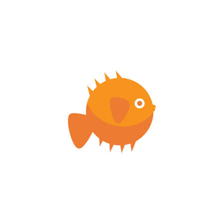 Puffer fish illustration vector design